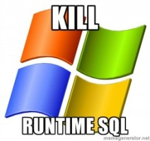 MS Eliminates SQL Server runtime licenses